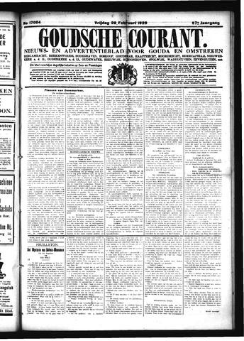 Goudsche Courant 1929-02-22
