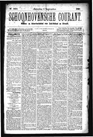 Schoonhovensche Courant 1898-09-03