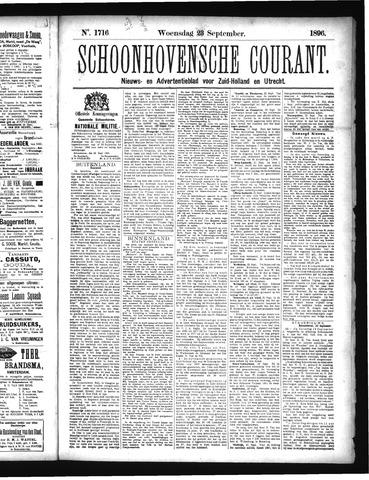 Schoonhovensche Courant 1896-09-23