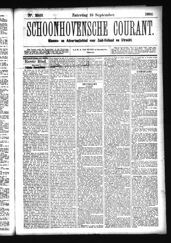 Schoonhovensche Courant 1904-09-10