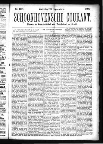 Schoonhovensche Courant 1896-09-26