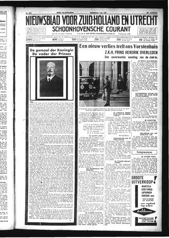 Schoonhovensche Courant 1934-07-04
