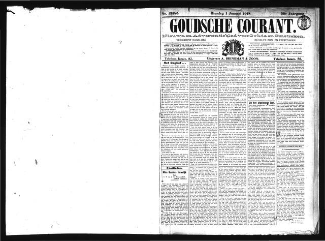 Goudsche Courant 1918-01-01
