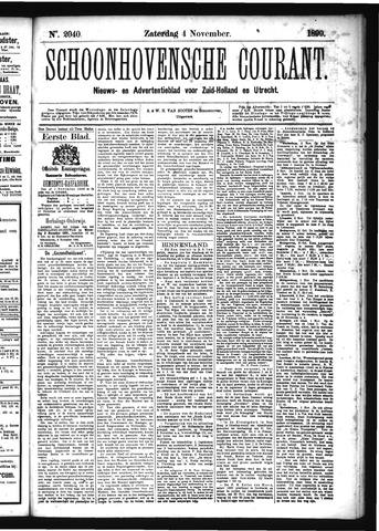 Schoonhovensche Courant 1899-11-04