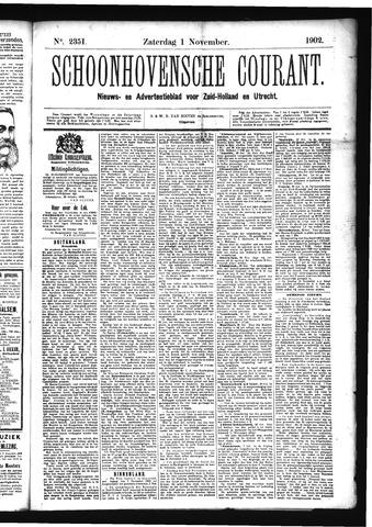 Schoonhovensche Courant 1902-11-01