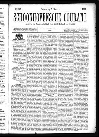 Schoonhovensche Courant 1891-03-07