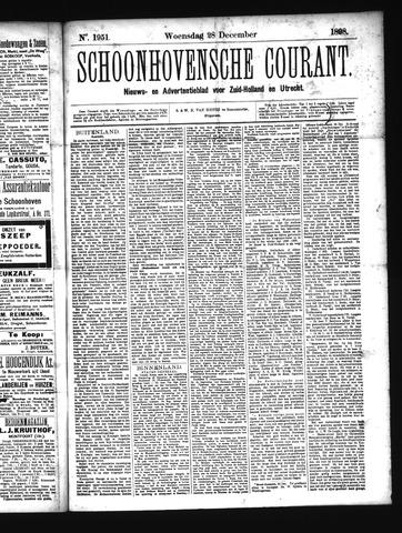 Schoonhovensche Courant 1898-12-28