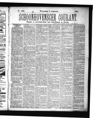 Schoonhovensche Courant 1913-08-06