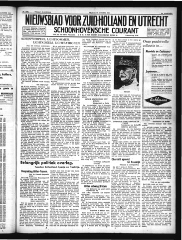 Schoonhovensche Courant 1940-10-25
