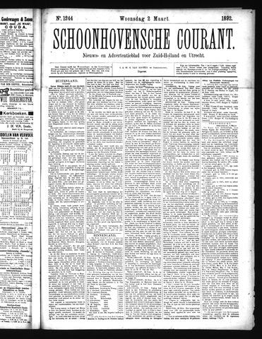 Schoonhovensche Courant 1892-03-02