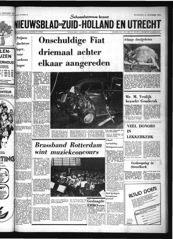 Schoonhovensche Courant 1974-10-14
