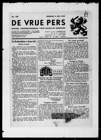 De Vrije Pers 1945-07-03