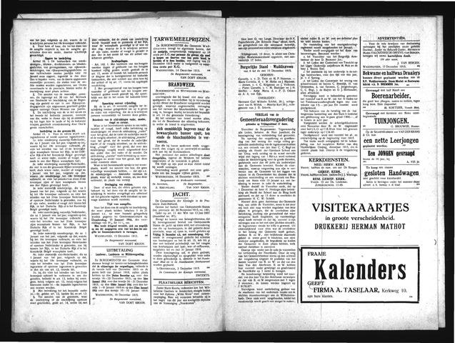 Advertentieblad Waddinxveen 1915-12-18