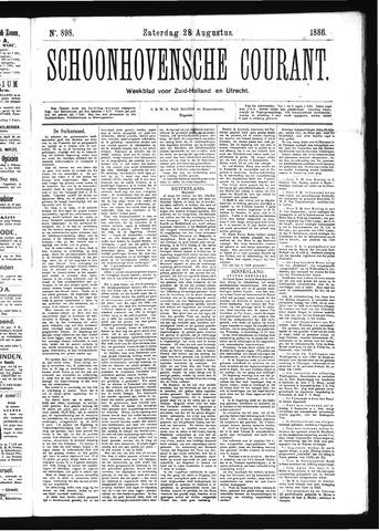 Schoonhovensche Courant 1886-08-28