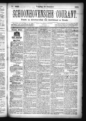 Schoonhovensche Courant 1916-10-13