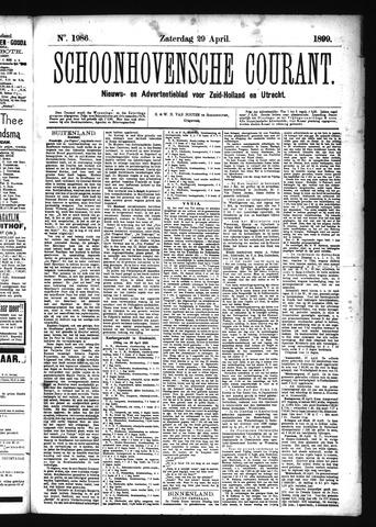 Schoonhovensche Courant 1899-04-29