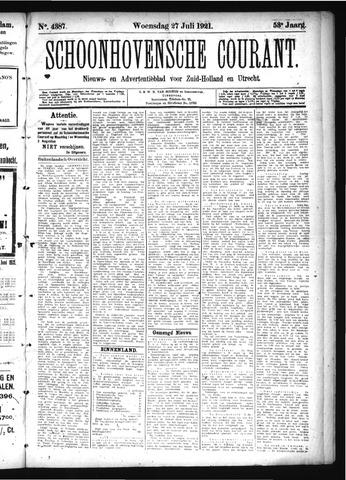 Schoonhovensche Courant 1921-07-27