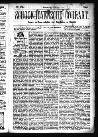 Schoonhovensche Courant 1900-03-03