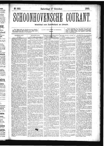 Schoonhovensche Courant 1885-10-17