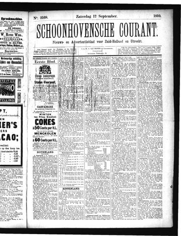 Schoonhovensche Courant 1910-09-17