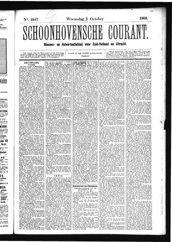 Schoonhovensche Courant 1903-10-07