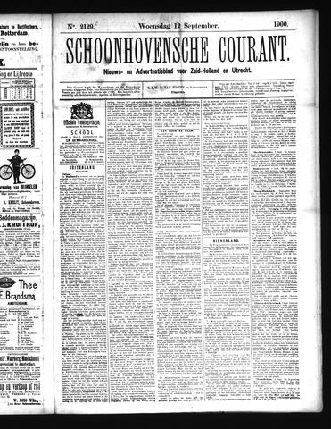 Schoonhovensche Courant 1900-09-12