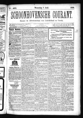 Schoonhovensche Courant 1919-07-07