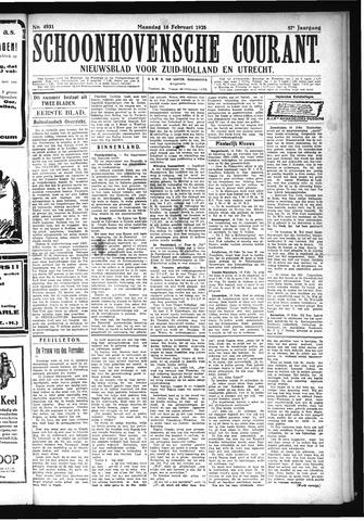 Schoonhovensche Courant 1925-02-16