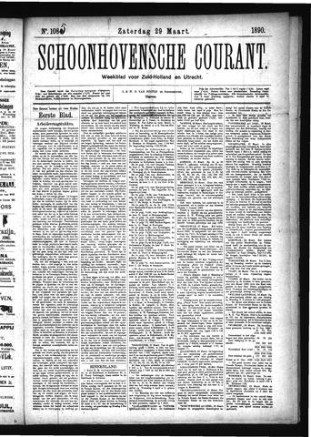Schoonhovensche Courant 1890-03-29
