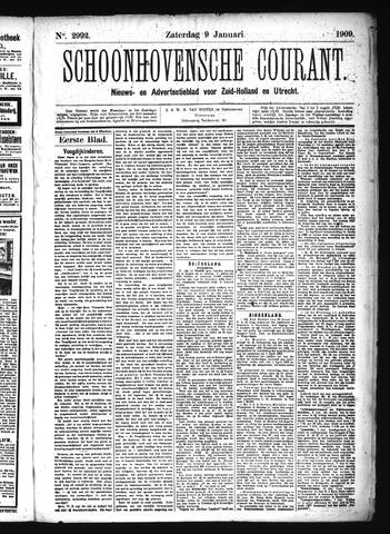 Schoonhovensche Courant 1909-01-09