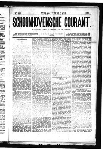 Schoonhovensche Courant 1878-02-17