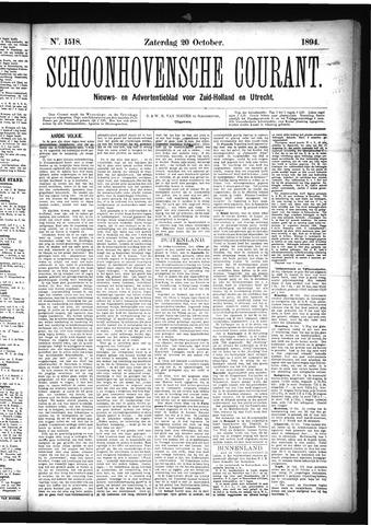 Schoonhovensche Courant 1894-10-20
