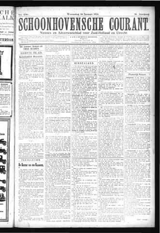 Schoonhovensche Courant 1924-01-16