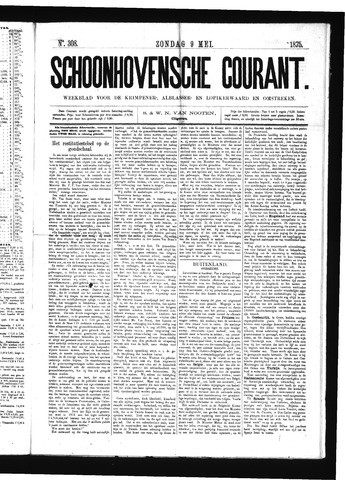 Schoonhovensche Courant 1875-05-09