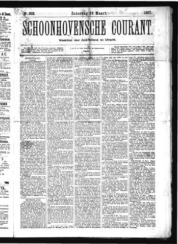 Schoonhovensche Courant 1887-03-26