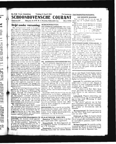 Schoonhovensche Courant 1945-04-13