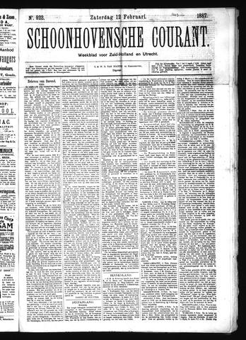 Schoonhovensche Courant 1887-02-12