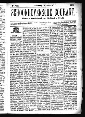 Schoonhovensche Courant 1900-02-10