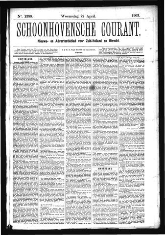 Schoonhovensche Courant 1903-04-22