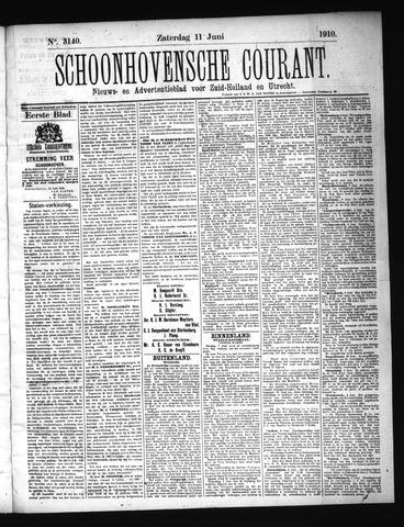 Schoonhovensche Courant 1910-06-11