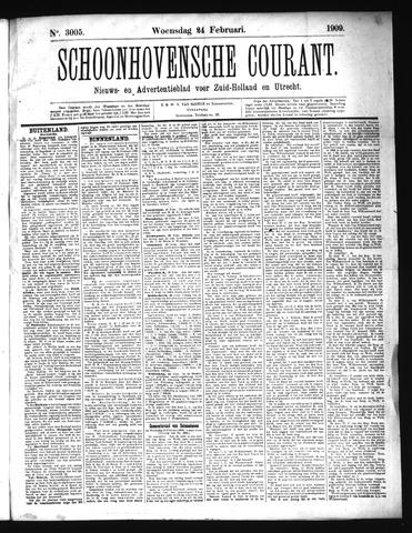 Schoonhovensche Courant 1909-02-24
