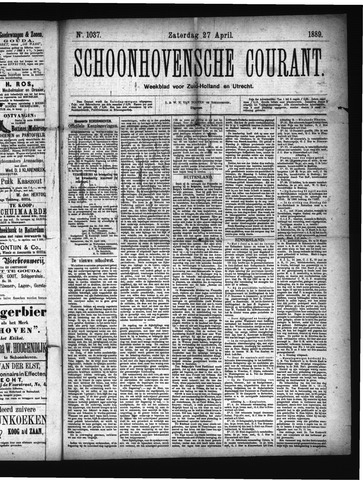 Schoonhovensche Courant 1889-04-27