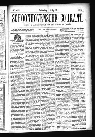 Schoonhovensche Courant 1894-04-28