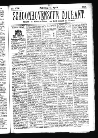 Schoonhovensche Courant 1906-04-21