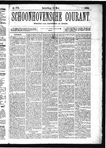Schoonhovensche Courant 1884-05-10
