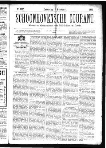 Schoonhovensche Courant 1891-02-07