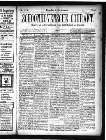 Schoonhovensche Courant 1916-09-05
