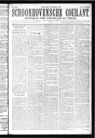 Schoonhovensche Courant 1924-08-13