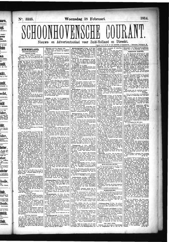 Schoonhovensche Courant 1914-02-18