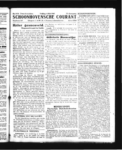Schoonhovensche Courant 1945-05-04